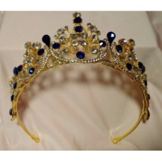 Gold and Blue Tiara