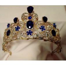 Royal Blue and Gold Tiara