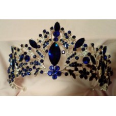Silver and Blue Tiara