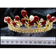 Exquisite Gold & Red Tiara