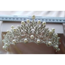 Pearls on Silver Tiara