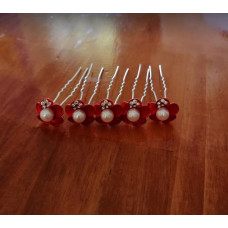 Hair Pins Red - Large