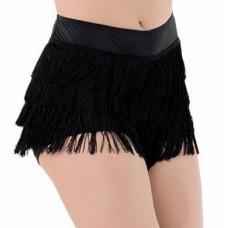 Fringe Shorts Black