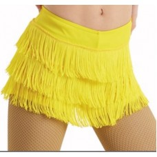 Yellow Fringe Shorts