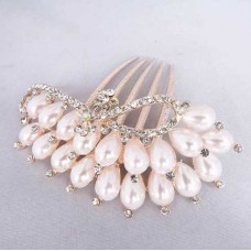 Pearls and Diamante Comb
