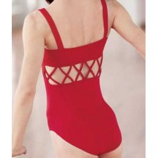 Lattice backed childs leotard